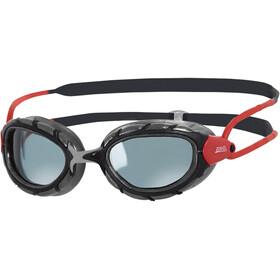Zoggs Predator Smoked Polarized Goggle Black/Red